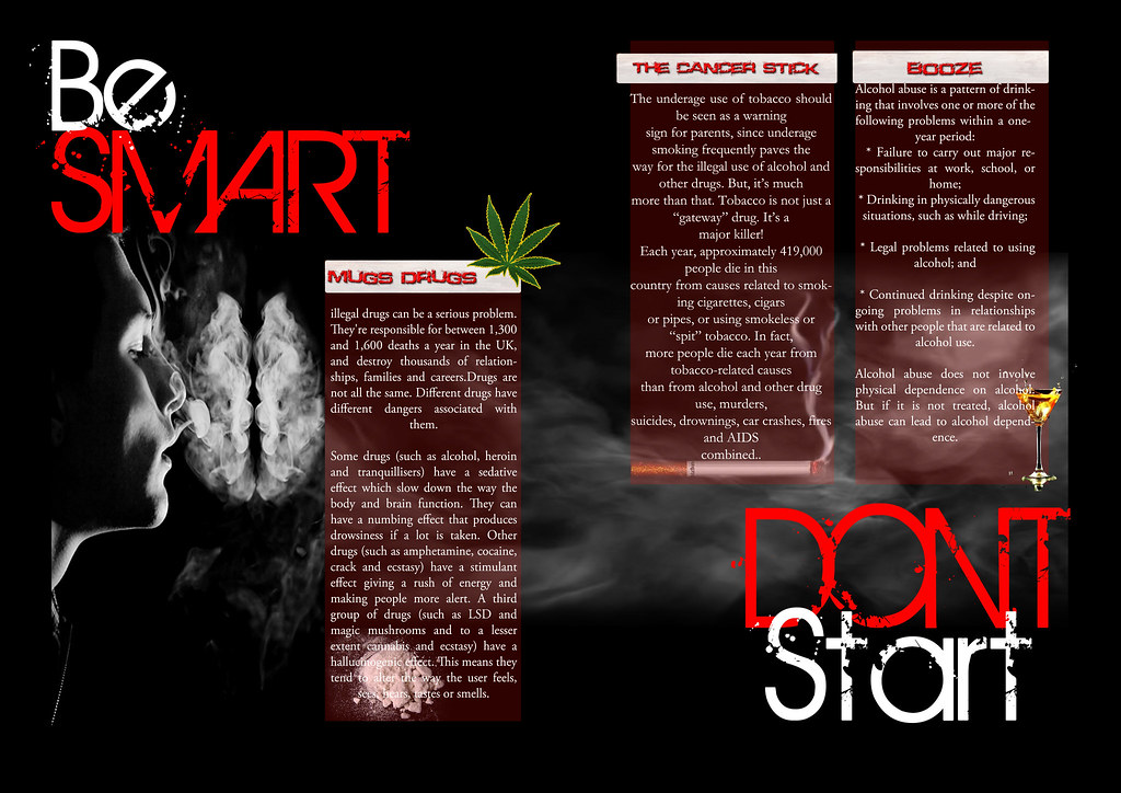 Anti Drug Brochure Double Page Spread | College Brief | Shane