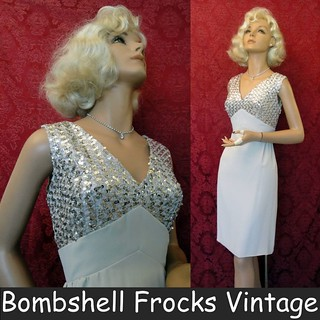 1960s Silver Sequined Dress | by Bombshell Frocks Vintage