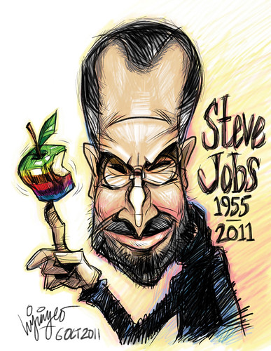 Steve Jobs Caricature Colour | by Liyin Yeo of Liyin Creative Studio