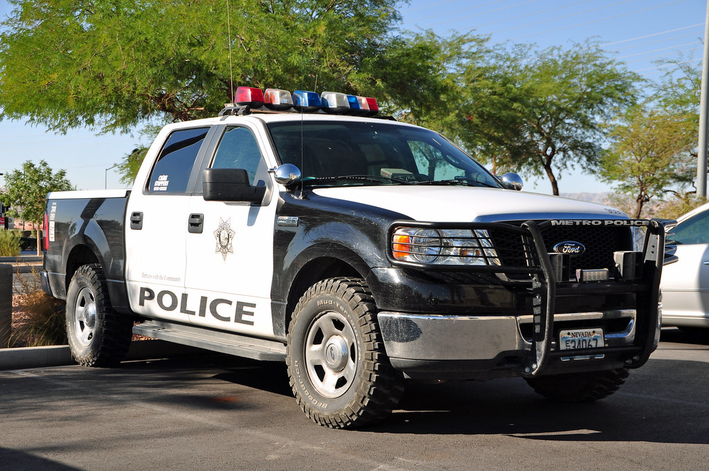 Las Vegas Metro Police Ford F150 Pick Up - Seen At Dunkin -4053