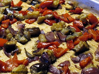 Easy Roasted Eggplant with Red Onion and Sweet Red Peppers 1 | by Farmgirl Susan