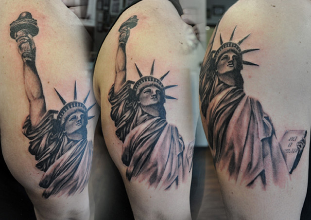 Statue of liberty tatoo flickr photo sharing for Statue of liberty tattoo