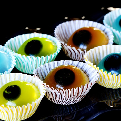 Blueberry-tini Eyeball Jelly Shots | by Jelly Shot Test Kitchen