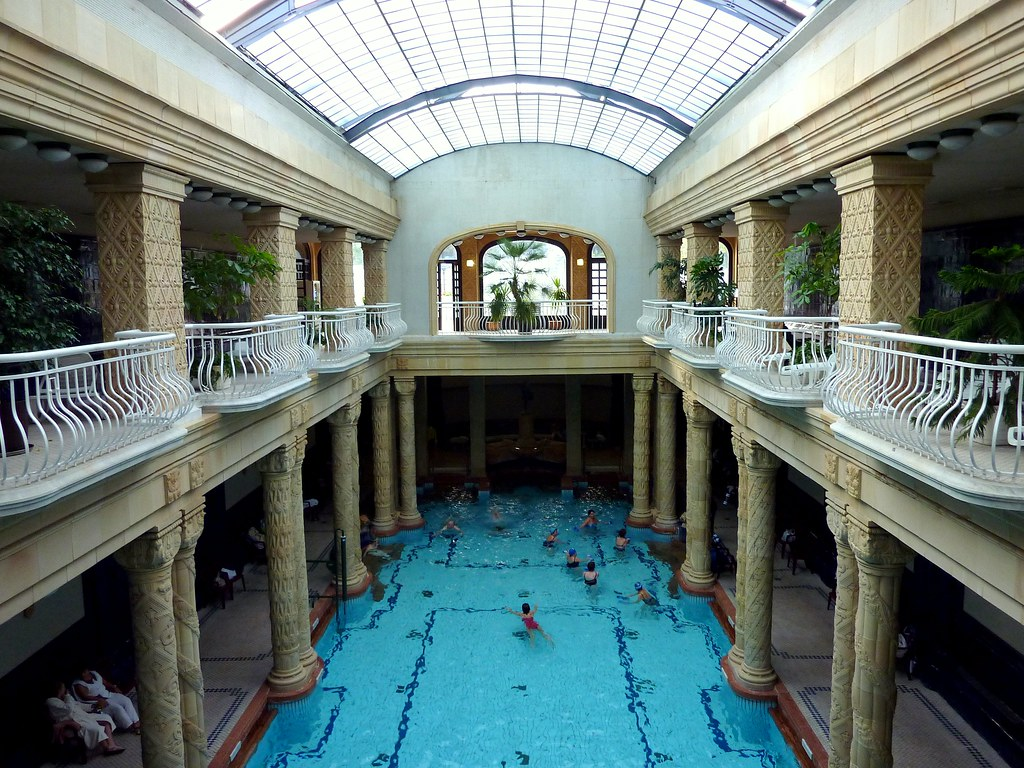 The swimming pool at the Gellért Baths in Budapest | Flickr