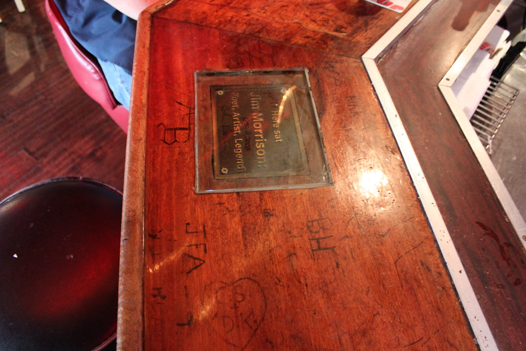 Jim Morrison S Seat At Barney S Beanery West Hollywood