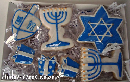 Hanukkah Cookie Box 2011 | by Andovercookiemama