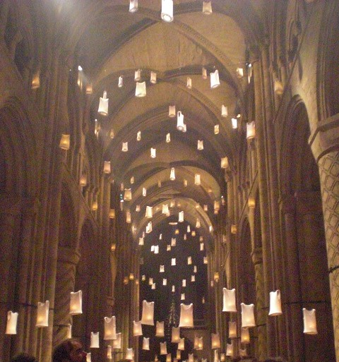 Durham lumiere inside of the cathedral during the - Durham university international office ...