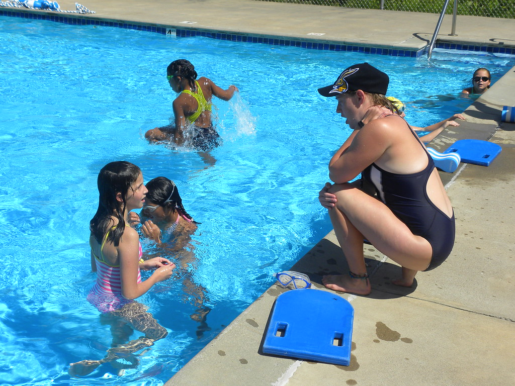 Swimming lessons at WeHaKee Camp for Girls | Campers getting… | Flickr