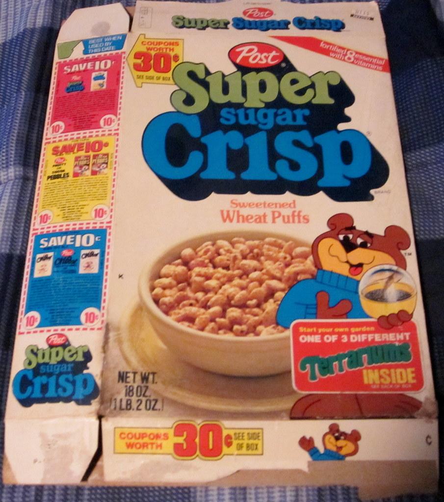 Post 1979 Super Sugar Crisp Cereal Box