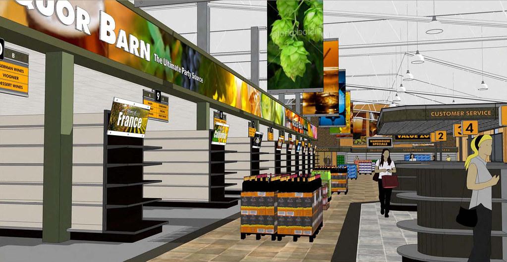Liquor Store Interior 3d Decor Design Conceptual Desig Flickr
