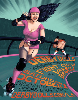 Derby Dolls bout poster 2 | by j.albright