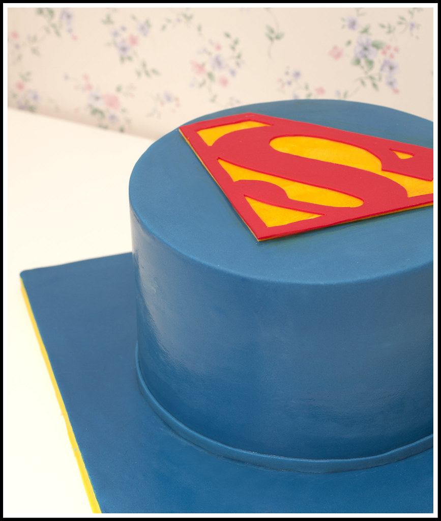 Superman Birthday Cake This Was A Cake I Made For My Dads Flickr