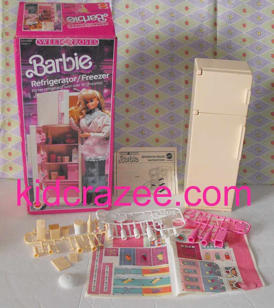 sold vintage barbie furniture sweet roses refrigerator ki u2026 flickr