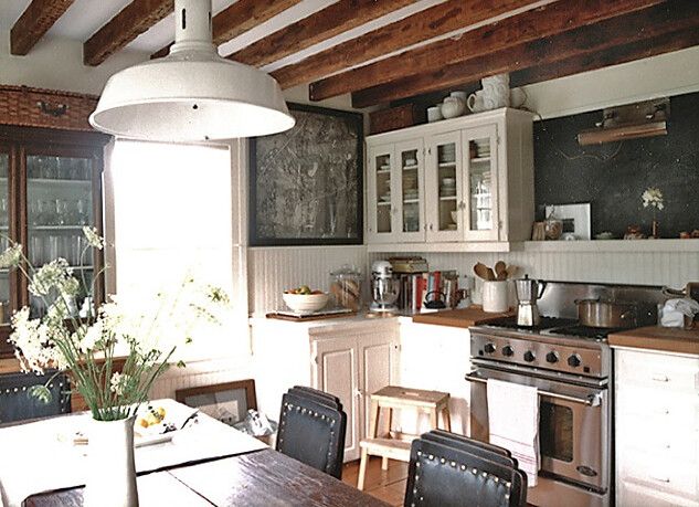 Laura resen rustic eclectic vintage industrial modern kit for Industrial modern kitchen designs