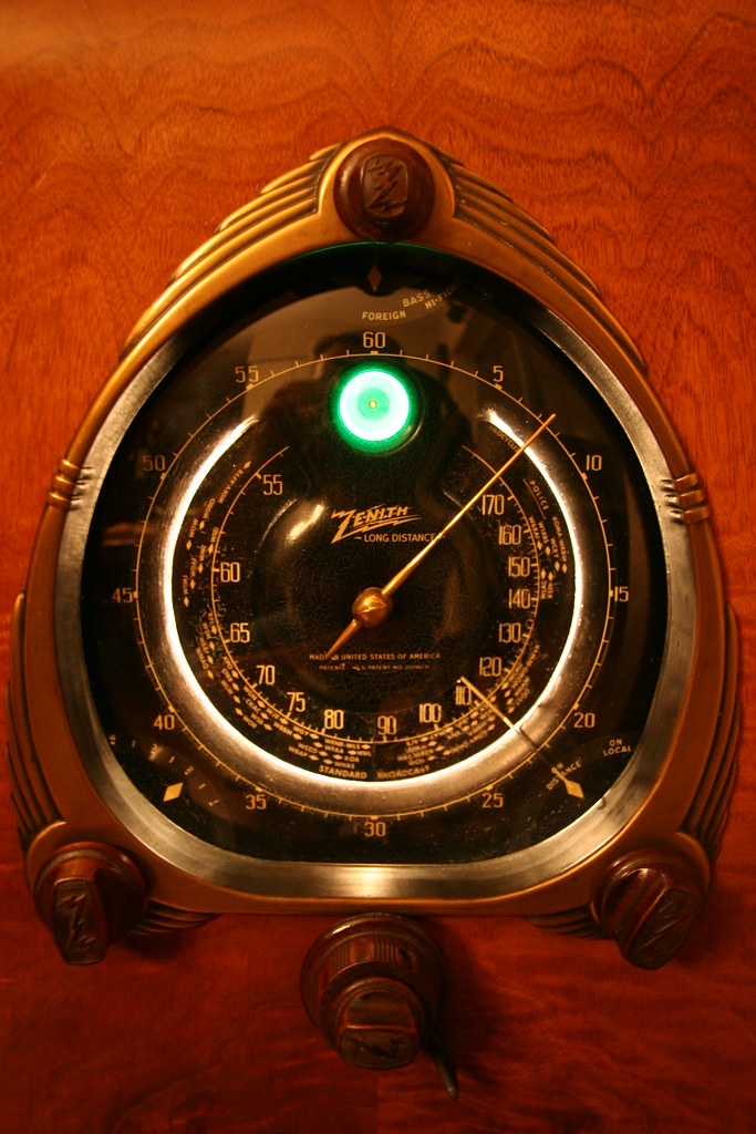Zenith 12 S 267 Radio Dial Frequency Coverage Is 540