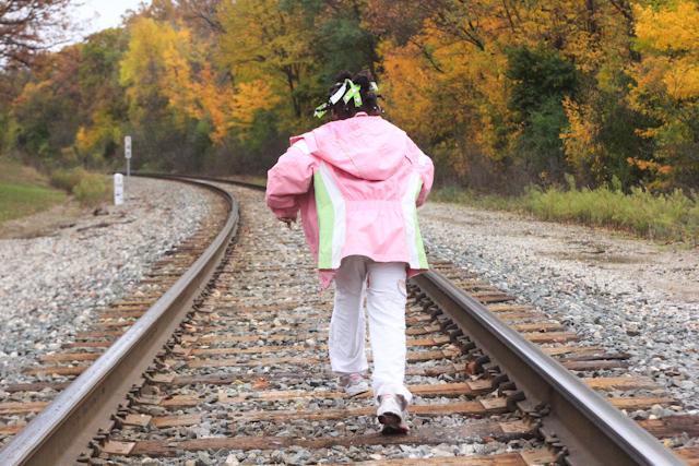 ... Girl Running on Train Tracks Cemetery Thai Food with Daddy October 30, 20118 - by
