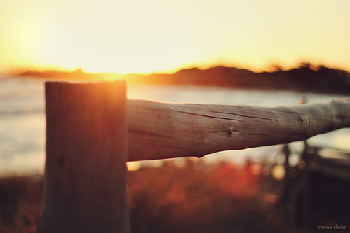 Wood fence at Sunset | by ninasclicks