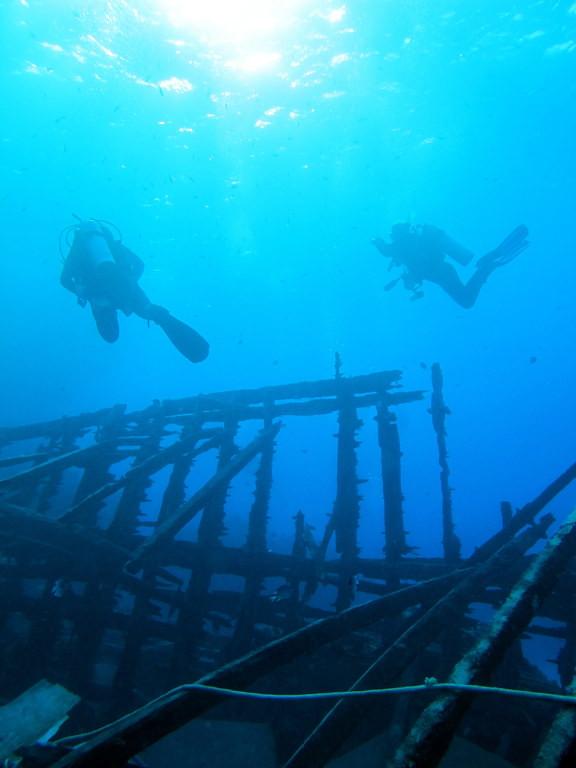 Divers On A German Dive Boat Wreck At At Shaab Marsa Alam