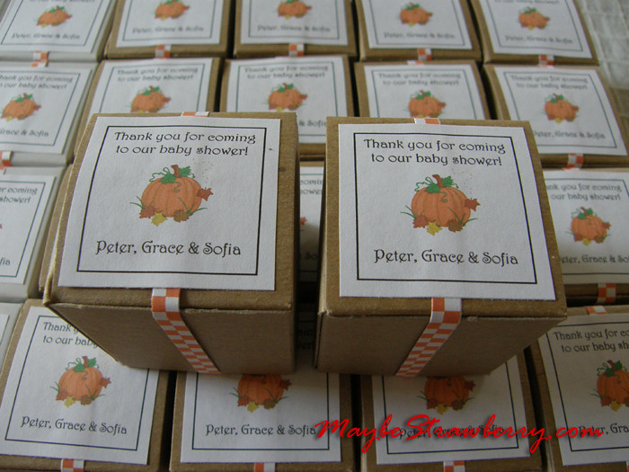 Fall Baby Shower Favors Boxes Filled With Lindt Truffles