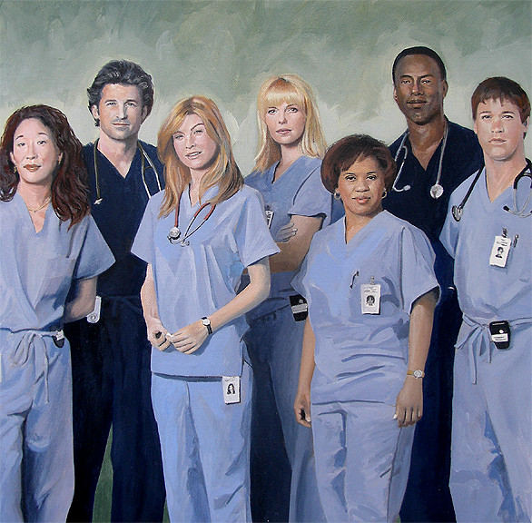 Greys Anatomy Cast By David Fairrington Original Work By Flickr