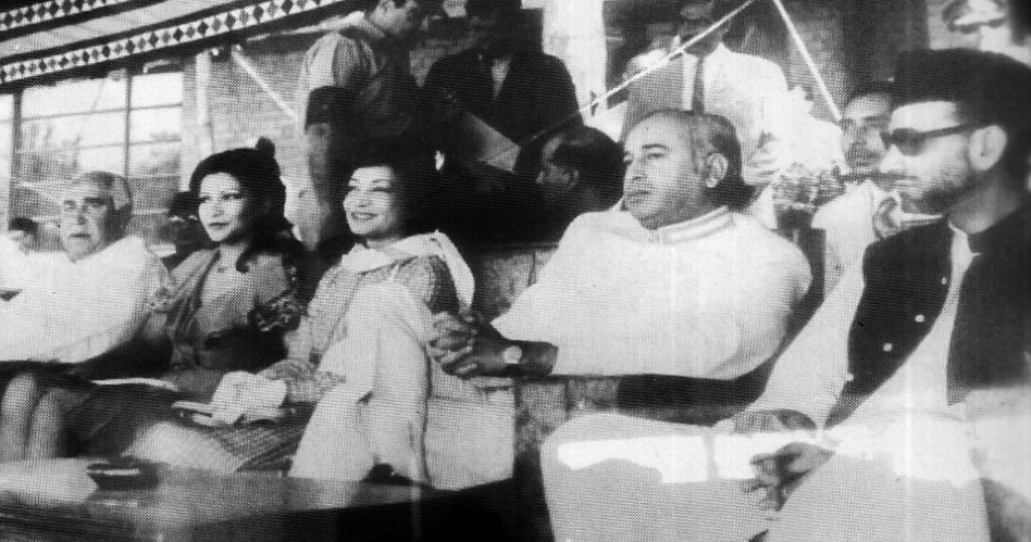 Princess Ashraf Pahlavi with Prime Minister Bhutto and the Balochistan government leaders