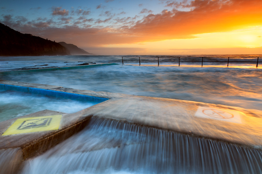 Coalcliff Pool This Mornings Sunrise Was Looking Decidedly Flickr