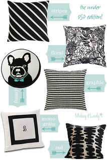 Black and White Patterned Pillows Under $50 | by Nicole Balch