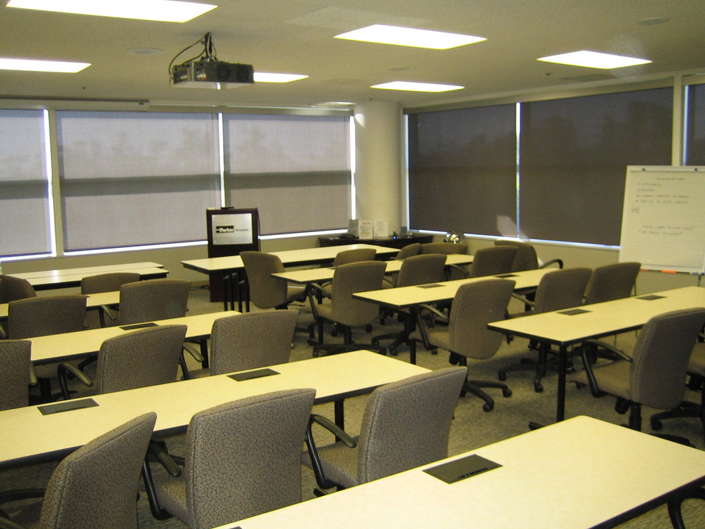 Lutron Motorized Roller Shade Commercial Office
