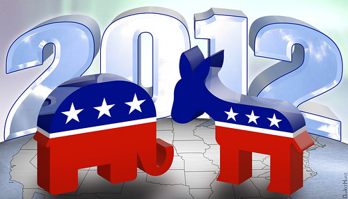 Republican vs. Democrat 2012 | by DonkeyHotey