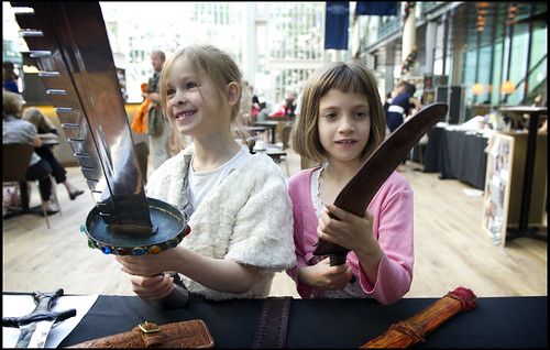 Children exploring Royal Opera House props at a Welcome Performance © ROH / Sim Canetty-Clarke | by Royal Opera House Education