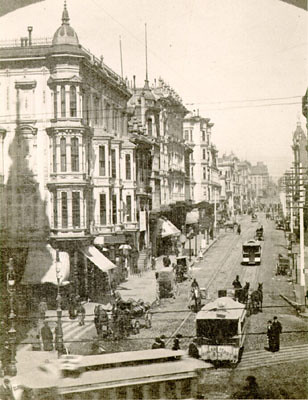 San Francisco Street Identified Grant Avenue At Market