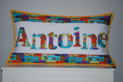 Quilted Pillow Antoine | by grapes & hearts