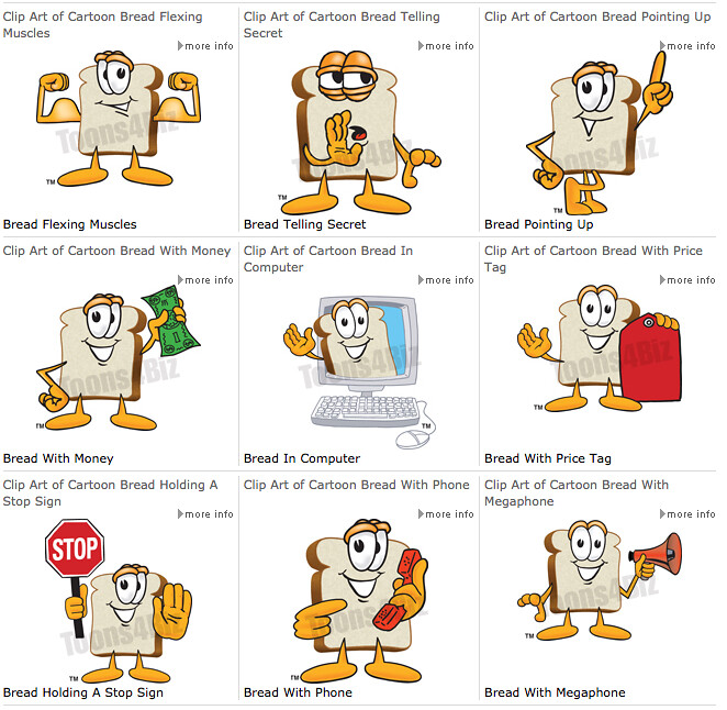 Bread Logo : Cartoon Bread logo can be used as a brand ...