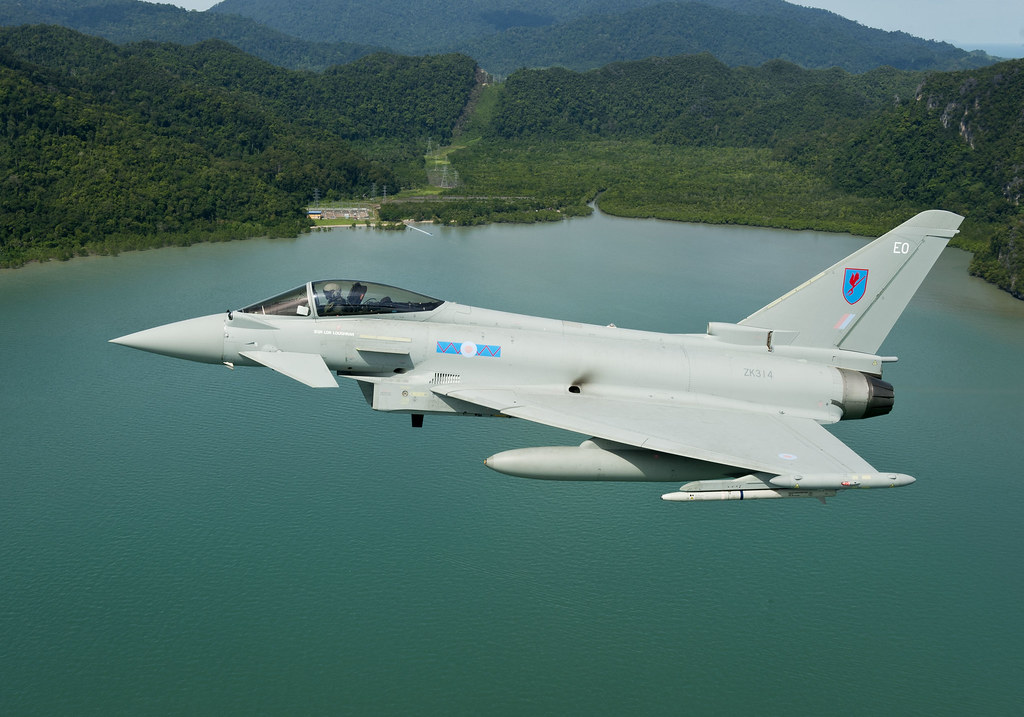 raf 6 squadron eurofighter typhoons on exercise bersama li
