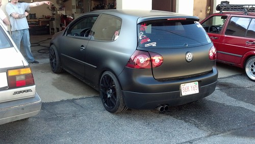 Matte black vinyl wrap on the GTI | by *Michelle*(meechelle)