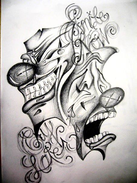 Smile now, Cry later | Graphite, tattoo drawing - 2010