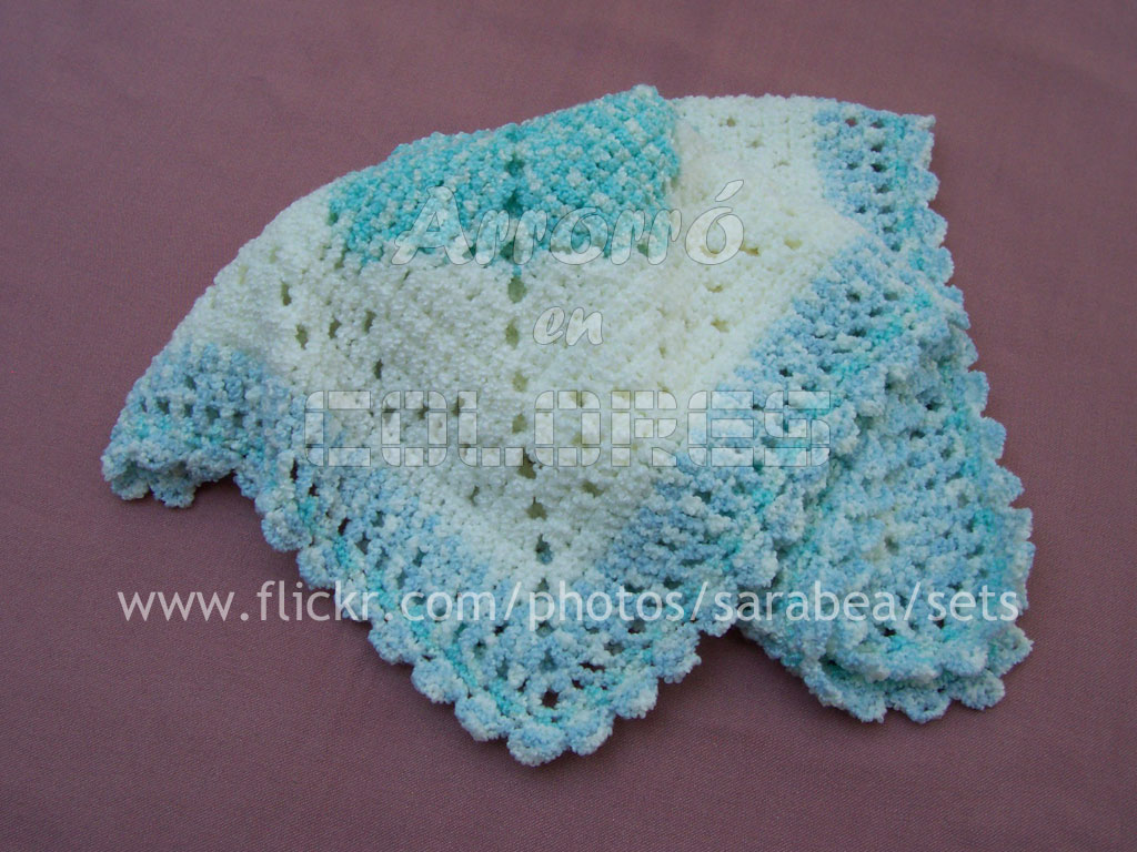 Simplicidad - Manta para bebé al crochet | Pattern available… | Flickr