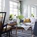 Hans Blomquist {white and blue mid-century scandinavian modern living room}