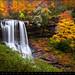 Autumn Waterfall Dry Falls - Highlands NC Waterfalls