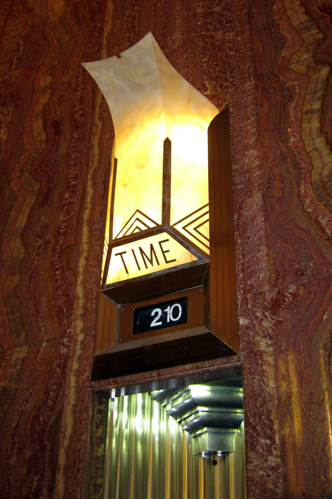 Nyc midtown chrysler building clock the upwards for Chrysler building ceiling mural