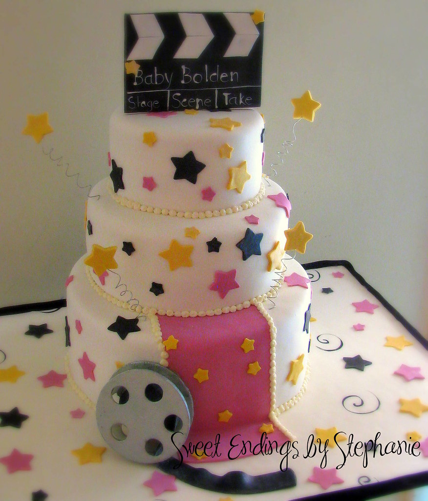 Hollywood Baby Shower Cake Sweetendingsbystephanie Flickr