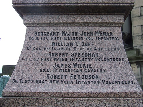 Detail of Soldiers Names on the Old Calton American Civil War Memorial | by irishamericancivilwar