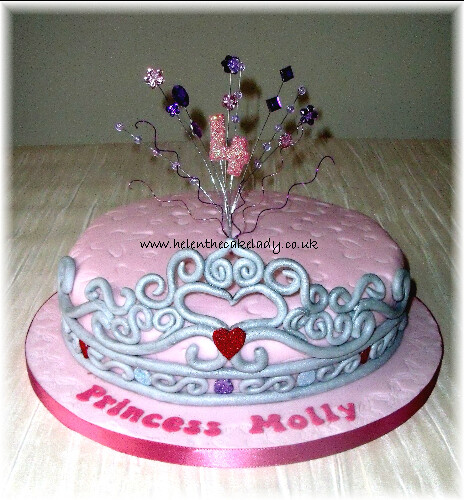 Princess tiara Girls 4th Birthday cake Helen Flickr
