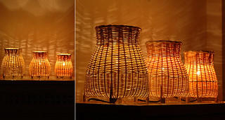 Handmade bamboo table lamp A set of three | by Artinroom