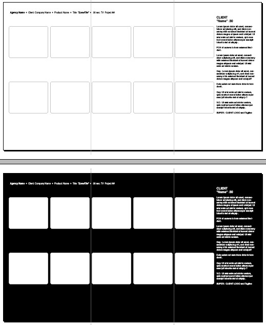 By Kristof Creative 10 Frame Storyboard 28 X 16 In