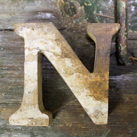 Letter N Beach Decor Vintage Nautical Wooden By Seastyle