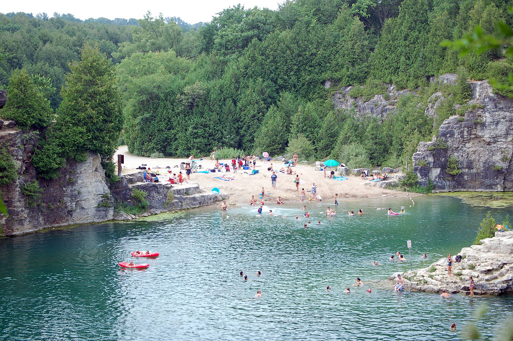 Elora Quarry Beach The Beach Taken From The Far Side Of