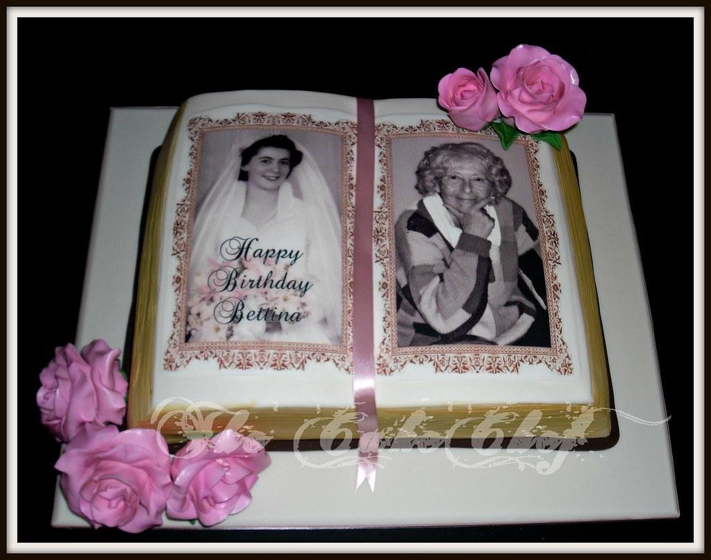 Free Cake Design Books : Vintage open book cake with edible image photos & large ...