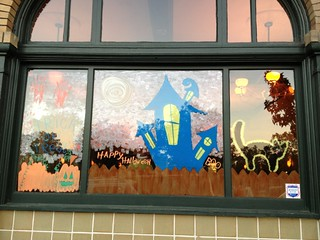 Halloween Windows in Old Town: E J Phair Alehouse at the Liberty | by Old Town Pittsburg CA