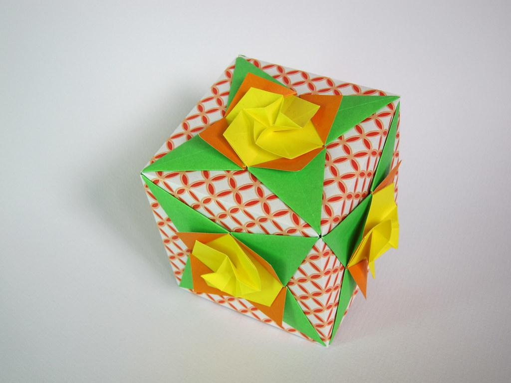 Flower Cube Kusudama Designer Tomoko Fuse Diagram Kusuda Flickr Diagrams By Pentadactyl Mammal